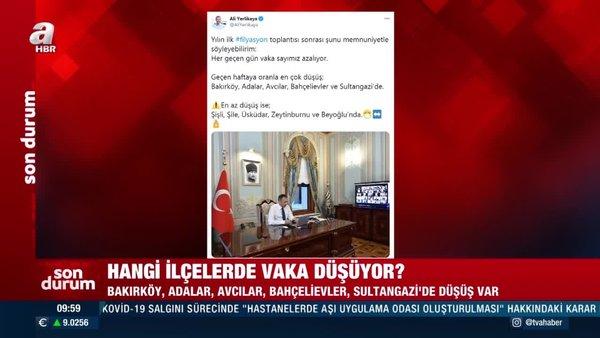 Vali Yerlikaya vakaların en çok düştüğü ve en az düştüğü ilçeleri açıkladı! İşteİstanbul'da son durum...