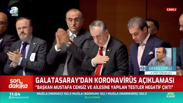 Son dakika: Galatasaray Başkanı Mustafa Cengiz'in corona virüsü test sonucu açıklandı | Video