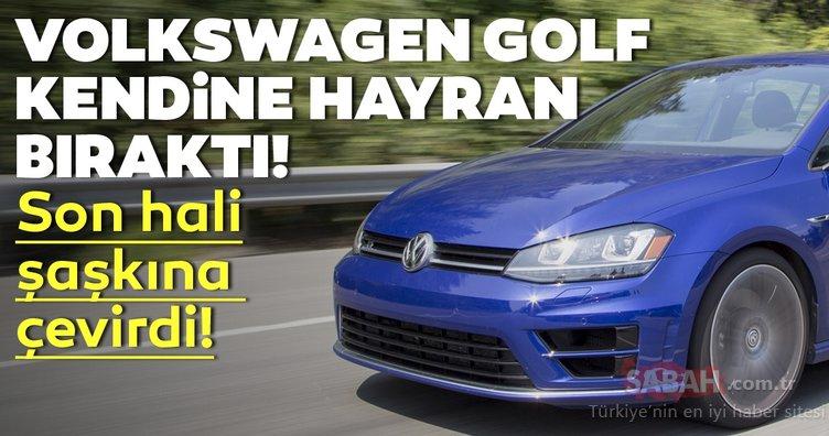 Volkswagen Golf kendine hayran bıraktı! Golf'ün son hali şaşkına çevirdi!