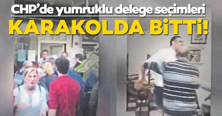 CHP'nin delege seçimlerinde kadına şiddet