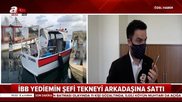İBB'de tekne skandalı! İBB Yediemin Şefi başkasının teknesini boyayıp arkadaşına sattı | Video