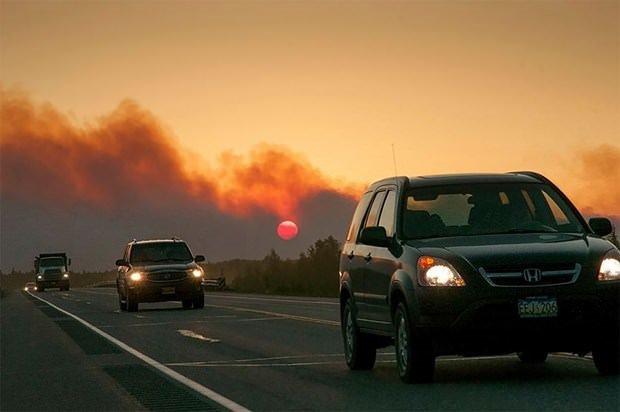 ABD'de korkutan yangın