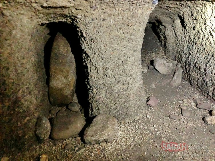 Kayseri'de bin 300 metre uzunluğunda yer altı şehri bulundu