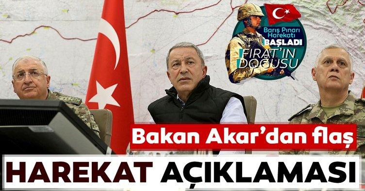Bakan Akar'dan flaş harekat açıklaması