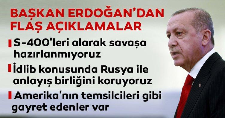 Başkan Erdoğan'dan flaş S-400 açıklaması!