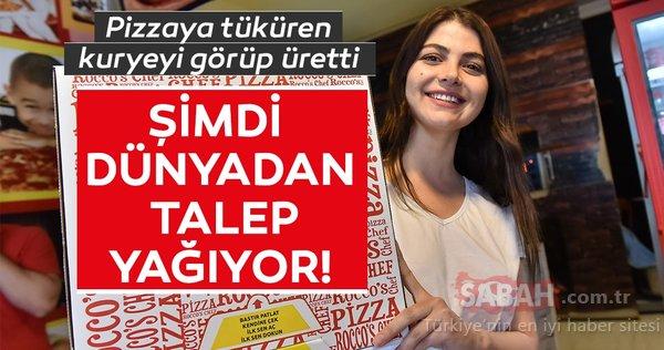 Pizzaya tüküren kuryeyi görüp üretti! Şimdi dünyadan talep yağıyor