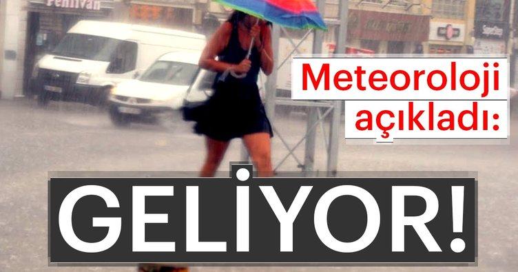 Meteoroloji'den son dakika hava durumu açıklaması! Meteoroloji sağanak yağışlar konusunda uyardı...