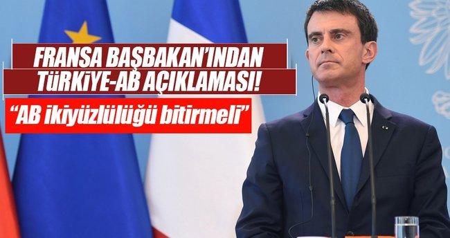 AB'nin Türkiye ile ilgili ikiyüzlülüğü bitmeli