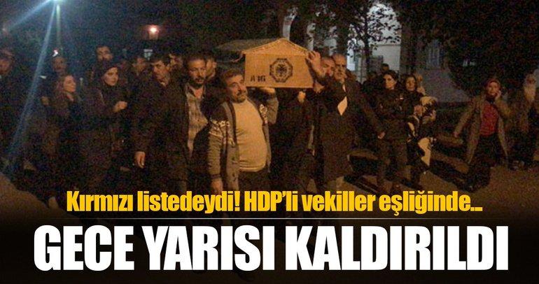 PKK'lı Hülya Eroğlu'nun cenazesine HDP'li vekiller de katıldı