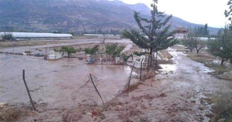 Ardahan'da şiddetli yağış etkili oldu