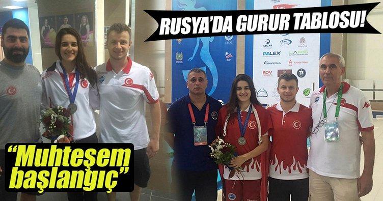 Ayşe Ceren Yeşilbaş Rusya'da dünya ikincisi oldu
