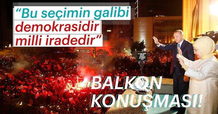 Cumhurbaşkanı Erdoğan, seçim zaferi sonrası balkon konuşmasını yaptı!