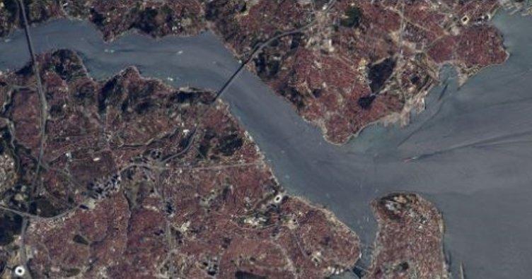 Fransız astronot uzaydan İstanbul'u görüntüledi!