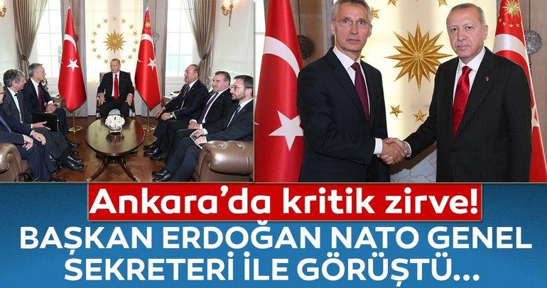 Başkan Erdoğan, Stoltenberg'i kabul etti
