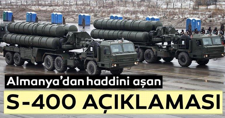 Almanya'dan Türkiye'ye haddini aşan S-400 açıklaması