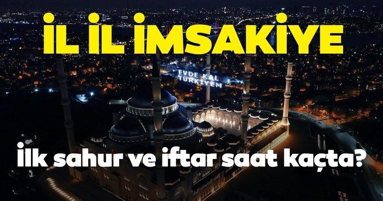 Ramazan İmsakiye! 2020 İlk sahur imsak vakti ve iftar ezanı ne zaman saat kaçta okunacak? İstanbul Ankara İzmir sahur saati ve il il iftar saatleri