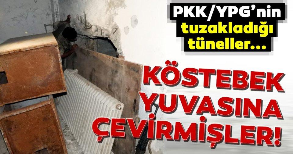 Arama tarama çalışmaları sırasında ortaya çıktı Terör örgütü PKK/YPG Tel Abyad'ı köstebek yuvasına çevirmiş!