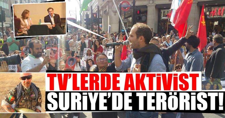 Televizyonlarda aktivist Suriye'de teröristler!