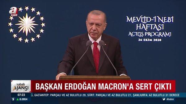 Başkan Erdoğan: Sakın Fransız markaları satın almayın! Fransız malları...   Video