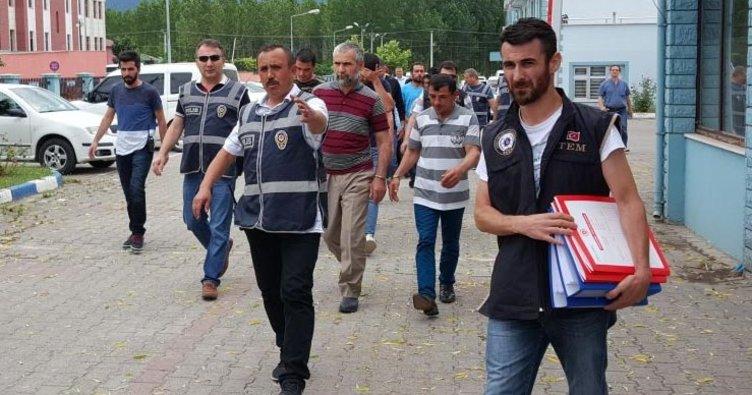 Düzce'de 14 kişi FETÖ'den adliyede