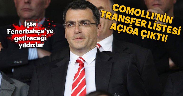 İşte Comolli'nin transfer listesi