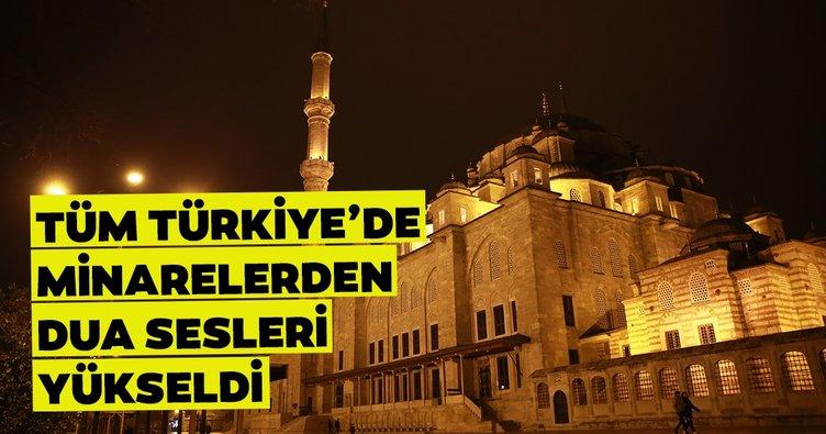 Son dakika: Tüm Türkiye'deki camilerin minarelerinden dua sesleri yükseldi