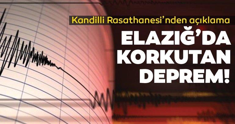 SON DAKİKA: Elazığ'da şiddetli deprem! Kandilli Rasathanesi ve AFAD depremin büyüklüğünü açıkladı! Son depremler listesi