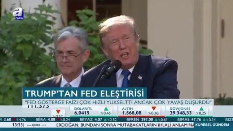 Trump'ın FED eleştirileri devam ediyor