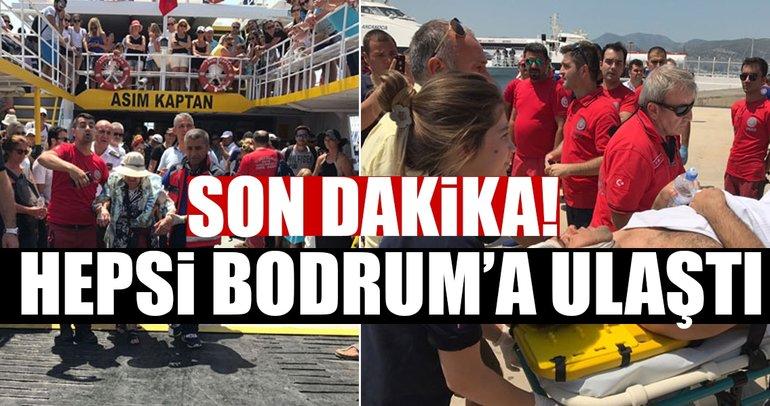 Son dakika! Tahliyeler başladı.. İlk feribot Bodrum'da