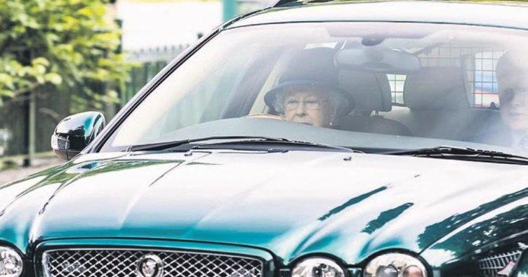 91 yaşındaki kraliçe direksiyonda