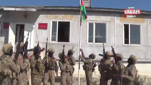 Ermenistan işgalinden kurtarılan Fuzuli kentine Azerbaycan bayrağı dikildi   Video