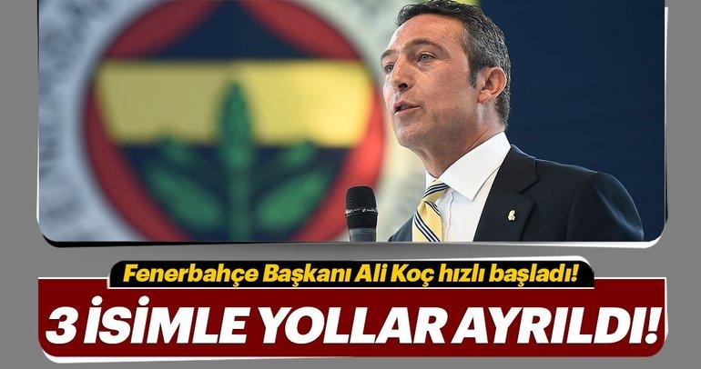Fenerbahçe'de ilk neşter vuruldu! 3 isimle yollar ayrıldı...