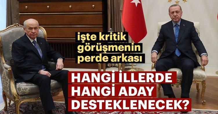 Son dakika: Erdoğan-Bahçeli görüşmesinin perde arkası... AK Parti hangi illerde MHP adayını destekleyecek?
