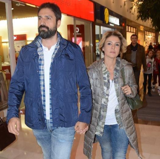 Gülben Ergen ve Erhan Çelik alışverişte