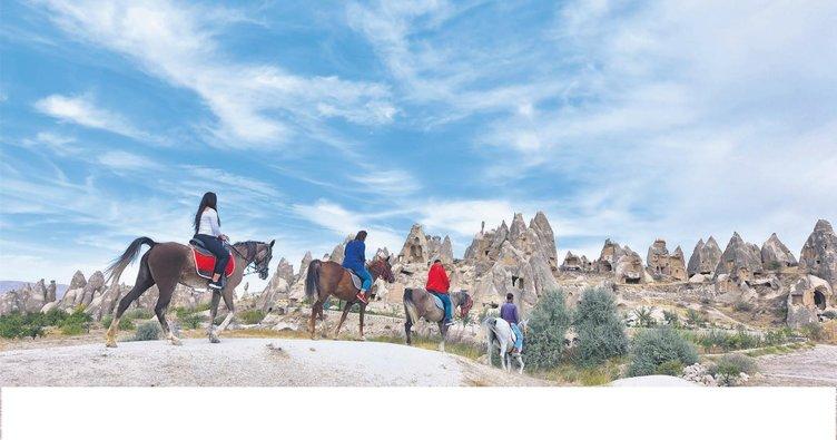 Kapadokya'da spor zamanı