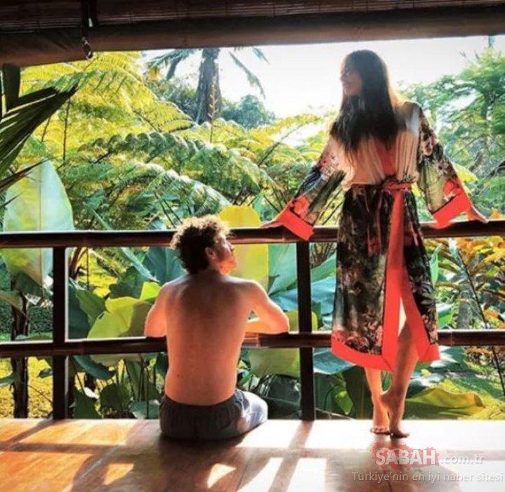 Müge Boz ile Caner Erdeniz balayı için Bali'de… Müge Boz o pozuyla dikkatleri üzerine çekti!