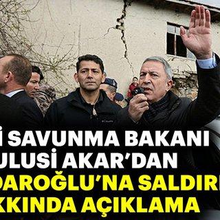 Milli Savunma Bakanı'dan flaş açıklama!