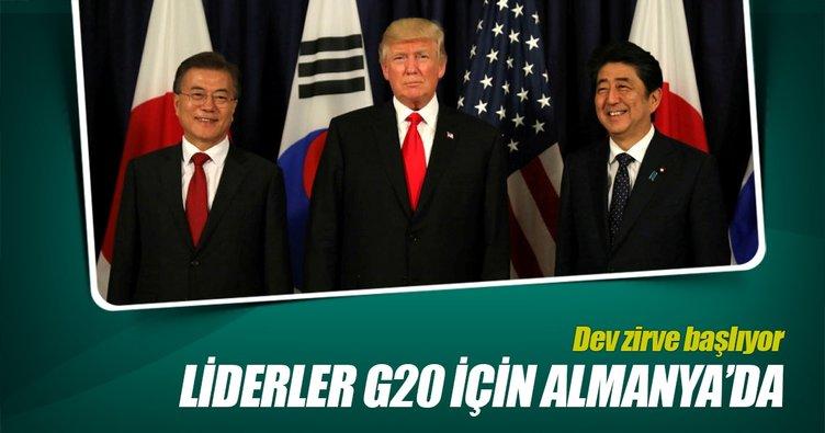 Liderler, G20 için Almanya'da