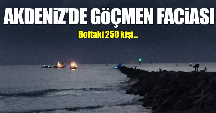 Akdeniz'de yeni göçmen faciası! 250 kişi kayıp!