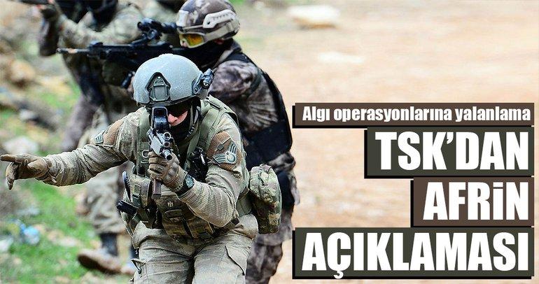 TSK'dan Afrin açıklaması