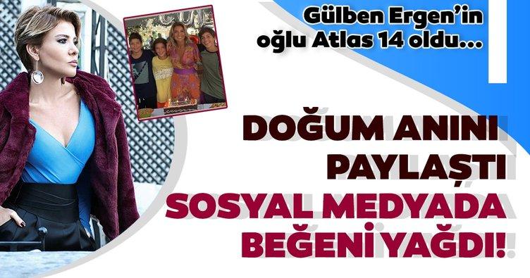 Gülben Ergen'in oğlu Atlas 14 oldu! Gülben Ergen doğum anını paylaştı: Canımın neden kolay yanmadığını iyi biliyorum!
