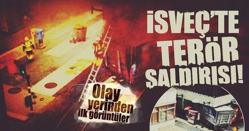İsveç'te terör saldırısı! Olay yerinden ilk görüntüler...