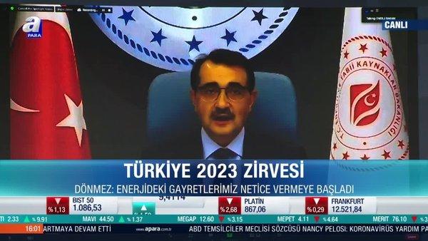 Enerji ve Tabii Kaynaklar Bakanı Fatih Dönmez'den 3. Türkiye 2023 Zirvesi'nde önemli açıklamalar   Video