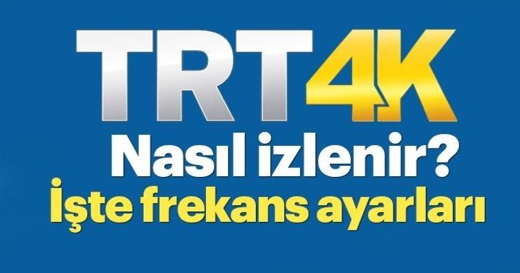 TRT 4K Türksat frekans bilgileri güncel: TRT 4K canlı yayın nasıl izlenir? TRT 4K izle