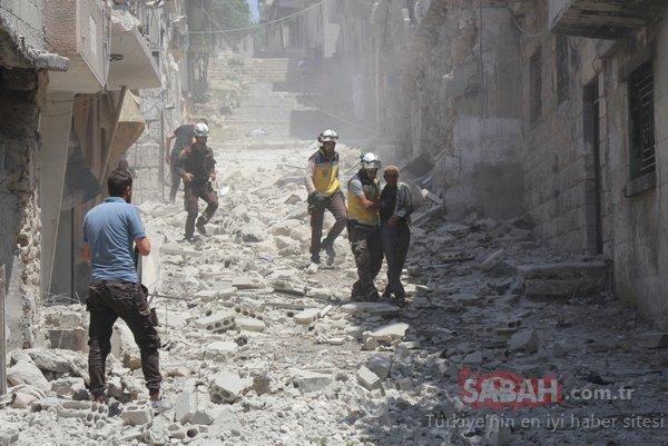 Esad rejimi ve Rus uçakları Suriye Sivil Savunma binasına saldırdı