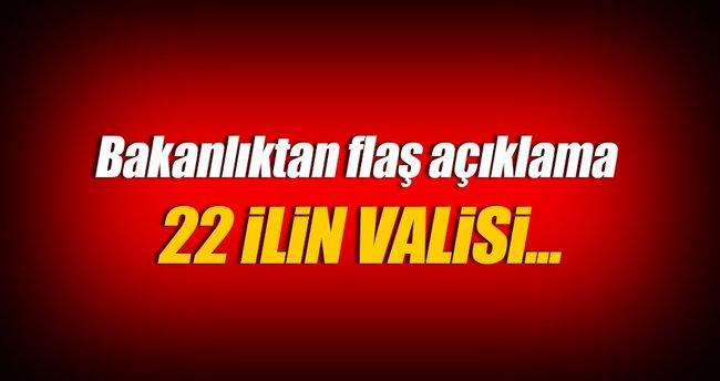 22 ilin valisi Ankara'ya çağrıldı