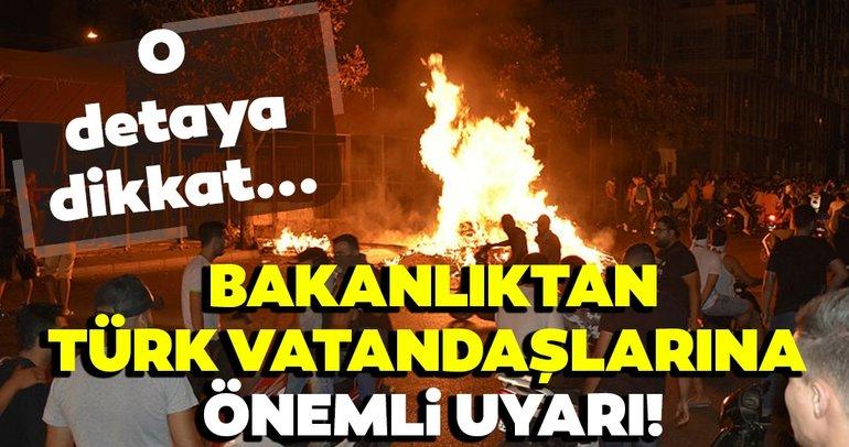Son Dakika Haber: Bakanlıktan Türk vatandaşlarına önemli uyarı! O detaya dikkat...