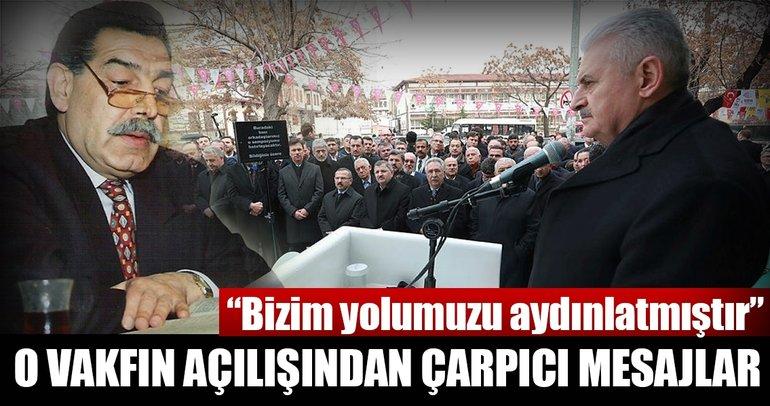 Başbakan Yıldırım: Mehmet Akif İnan, bizim yolumuzu aydınlatmıştır