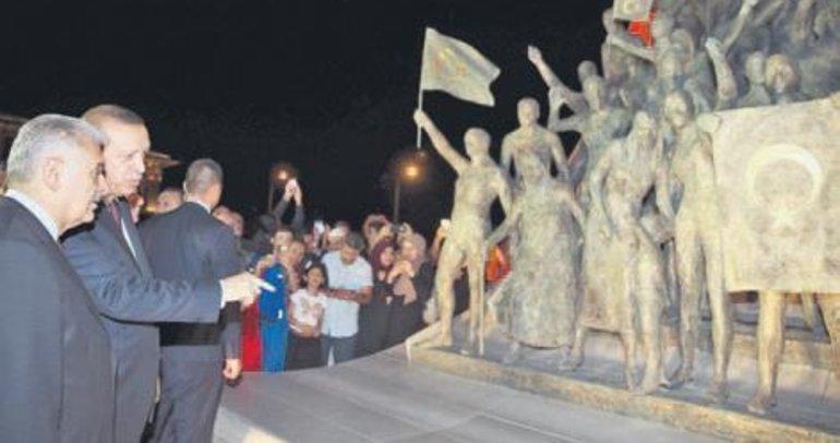 Erdoğan'dan abideye ziyaret