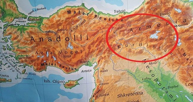 Prizren'de 'Türkiye haritası' skandalı